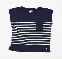 Jack Wills Womens Size 12 Striped Cotton Blue Top (Regular)