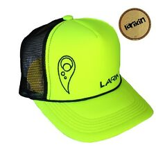 "LARIKIN ""The Kevin Borich"" Mens Australian Hat Trucker Cap Neon Yellow NEW"