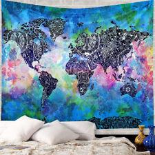 Vintage World Map Mandala Tapestry Hippie Wall Hanging Bedspread Throw Decor #4