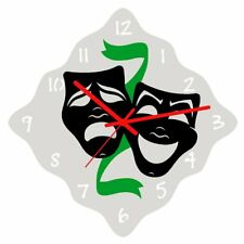 Euphyllia-tempus Theatre Actors Mask Wall Clock 32cm (e9611the)
