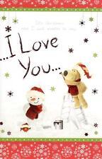 Boofle I Love You Natale Biglietti d'auguri SCHEDE NATALE SPECIALE impreziosito