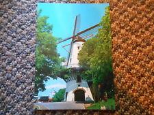 Old Vintage Postcard Dutch Windmill Hollandse Molen Holland Vita Nova Photo Pic