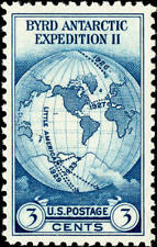 1935 3c Byrd Antarctic, Single Stamp issued without gum Scott 753 Mint F/VF NH