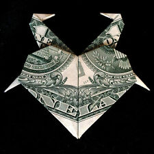 Origami Crane HEART Flamingos Money Swan Charm Gift Handmade Real $1 Dollar Bill
