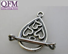 1 set Toggle Clasp in Sterling Silver 925, Loop 24.24x14.70 Bar 20mm Shiny