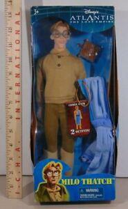 "Mattel 2000 Disney Atlantis Lost Empire Milo Thatch 12"" Doll Figure NEW"