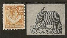 "NORTHERN RHODESIA 1941 KGVI 1½d ""TICK FLAW"" SG30b NHM"