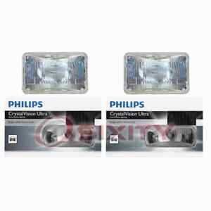 2 pc Philips High Beam Headlight Bulbs for Oldsmobile 98 Calais Cu Custom jb