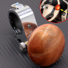 Universal Peach Wood Color Car Steering Wheel Power Handle grip Knob Power ball