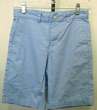 Vineyard Vines Flat Front Boys Baby Blue 100% Cotton Shorts Size 12 Youth
