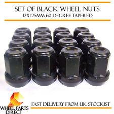 Alloy Wheel Nuts Black (16) 12x1.25 Bolts for Subaru Pleo [Mk2] 09-16