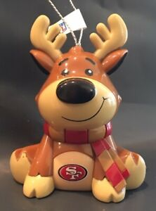 San Francisco 49ers Reindeer Christmas Holiday Tree Ornament FREE SHIPPING