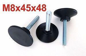 10x M8x45x48 mm SW 17 Möbelfuß Verstellfuß Stellschraube Stellteller Stellfuß