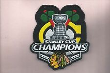 NEW 4  1/2 X 5 1/8 INCH CHICAGO BLACKHAWKS SC CHAMPIONS IRON ON PATCH FREE SHIP