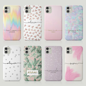 Tirita Personalised Case for iPhone 11 12 7 8 SE XR Aesthetic Holographic Hearts