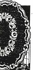 1709 Antique vintage FILET ROSE OVAL SCARF Pattern to Crochet (reproduction)