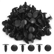 100Pcs Black Plastic Rivets Trim Fastener Moulding Clips 8mm for Auto Car