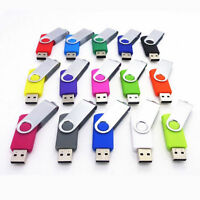 Lot 1pc Swivel USB 2.0 Metal Flash Memory Stick Pen Drive Storage Thumb U Disk/D