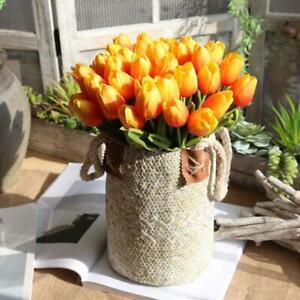 5 Pcs Artificial Fake Flowers Tulip Bouquet Floral DIY Wedding Party Home Decor