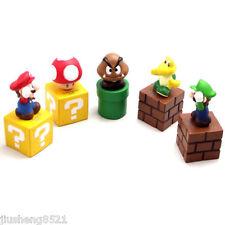 New Super Mario Bros Luigi Yoshi 5 Figure Set 5.3CM hnyr