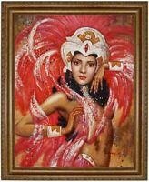 Ölbild erotische Frau, Akte, nackte Frau,Ölgemälde HANDGEMALT signiert F:50x60cm