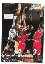1993-94 Topps Stadium Club First Day Issue #116 John Starks with Michael Jordan