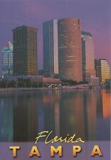 Postcard FL Florida Tampa Reflected in Hillsborough River Dusk Oversize MINT
