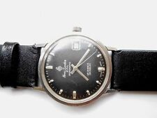 Rare Vintage HENRI SANDOZ & FILS Black Dial Gents Swiss Automatic Wristwatch