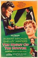 The Night of the Hunter 1955 Drama/Thriller Classic Movie Poster