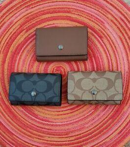 COACH (73992, 78675) FIVE RING KEY CASE NWT Great Price & Great Gift Idea!