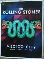 Rolling Stones Poster-lithograph-Ole tour 2016-America Latina mexico filter 2019