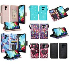 Lg Stylo 6 Design Wallet Credit Card Id Slot Stand Flip Cell Phone Case Cover