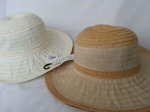 LADIES CRUSHABLE LIGHTWEIGHT  WIDE BRIM SUN  HAT BUSH HAT CAP 57CM