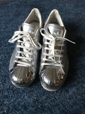 Adidas Original's Women's Superstar Metal Shell Toe Trainers Silver Size 6