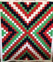 Vintage Southwestern Quilt Hippie Polyester Knit Bold Colorful Solids