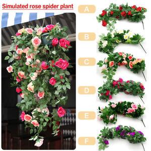 Artificial Fake Rose Flower Vine Hanging Garland Plant Home Garden Wedding Decor