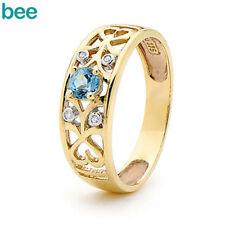 Diamond Topaz Yellow Gold Fine Jewellery