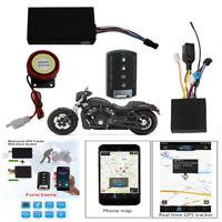 Motorcycle GSM GPS Tracker+Remote Engine Start Keyless Entry System Remote Alarm