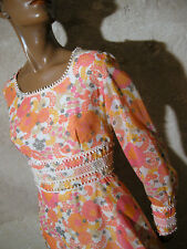 CHIC VINTAGE ROBE 1970 VTG DRESS 70s KLEID 70er ABITO ANNI 70 VESTIDO RETRO (40)