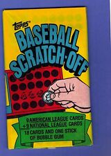 1981 TOPPS BASEBALL SCRATCH-OFFS 18 CARDS UNOPENED PACK FROM BOX ROSE BRETT