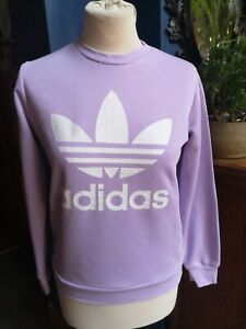 Girls Lilac Purple Adidas Jumper Sweatshirt Age 12 to 13 Years hardly worn