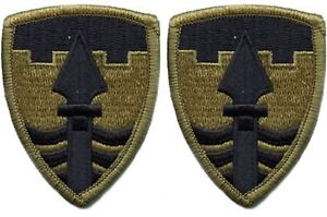 2 Pack US Army 43rd Military Police BG OCP Scorpion Hook Back military Patches