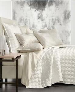 $420.00 Hotel Collection Alabastar King Quilted Coverlet,  Alabaster