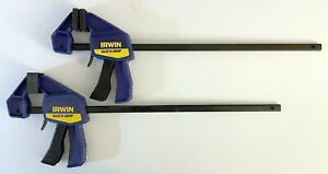 "IRWIN 2 PACK QUICK GRIP 12"" MINI ONE HANDED BAR CLAMP 140 LB CLAMP FORCE 1964745"