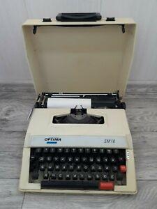 Original Vintage Press Manual Type Writer Optima SM 10 . typewriter