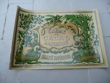 étiquette ancienne CREME DE CACAO A LA VANILLE