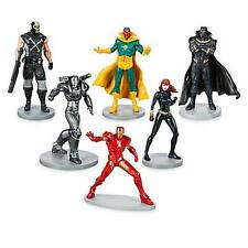 Avengers 6 Piece Figure Play Set Iron Man, Black Widow, Black Panther, Vision,