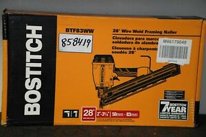 BOSTITCH BTF83WW 3.25-in 28-Degree Pneumatic Wire Weld Framing Nailer