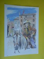 Filippucci, Lucio-litografia n°31-Tex Willer-martin Mystére timbro primo giorno