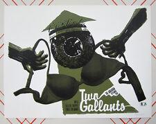 Rare 40 Printed Two Gallants & Blitzen Trapper Aquarium Fargo ND Concert Poster